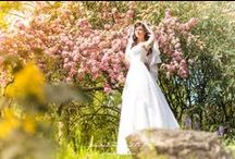 The bride of sakura / This is my colorful, fairy, pastel word.  What a lovely place for a bride!