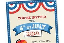 DIY 4th of July / Inspiration for planning your next 4th of July celebration ... from invitations, to food, to fun DIY projects.