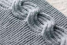 Brioche and rib knitting
