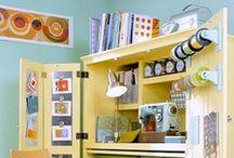 Déco : Atelier de création / Aménager son atelier de création, scrapbooking, scrapcooking, couture, activités manuelles...