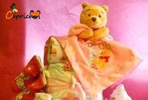 Tarta de Pañales Disney y otros Muñecos / Para más información o presupuestos en www.caprichosisama.es