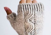 Mittens and Wristwarmers knitted