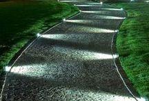 Garden lighting - Záhradné svietidlá / Garden lighting is perfect way to do atmosphere in your garden.  Take a inspiration about new trends. #garden #gardenlighting #gardenlamp