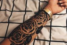 BW Rose Tattoo Inspiration / simplistic and traditional