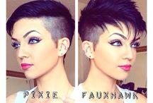 Look & Fringues : Coiffures / Coupes de cheveux, souvent très courtes, délirantes, fun ou plus sages... F, H, androgyne...