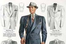 pánské obleky r. 1930