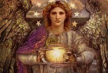 angeli / Nel nome del Signore, Dio d'Israel, sia Michael alla mia destra, Gabriel alla mia sinistra, dinanzi a me Uriel, dietro di me Raphael, e sopra la mia testa la divina presenza di Dio.