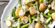 Spargelzeit / Ob grüner Spargel oder klassisch in Weiß: Hier findet ihr Rezeptvariationen von Salat, über Pasta, Beilage bis natürlich zum Hauptgericht.