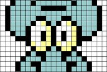 Pixel Art / . A lot of Hama-Beads patterns and templates.  . Diferentes patrones y plantillas para Hama-Beads.