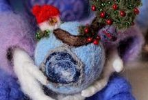 ВАЛЕНКИ БЕРТЫ / Berta April Koenigsberg hand made Валяные интерьерные куклы, валяные броши