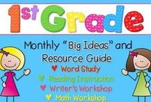 First Grade Ideas / A collection of 1st grade classroom ideas and resources! Has ideas specifically for first grade teachers teaching literacy, math, reading, writing, social studies, and more!