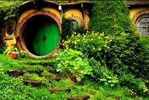 Ent: Film - LOTR Hobbiton / J.R.R. Tolkein's Lord of the Rings and The Hobbit movies: Hobbiton, the Shire, Middle-earth. / by K Hoffman