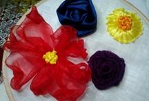 kwiaty z taśmy