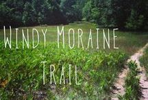 Windy Moraine Trail / #4 on our map and in the trail guide, Windy Moraine is a 1.5 mi moderate hike and advanced ski. It is a quiet trail with a view of Glen Lake from atop a hill. Trails leads through beech-maple forest and old farm fields. Trailhead: Welch Rd. east of M-109  Plan ahead. Take water and proper protection for the elements. No pets are allowed on the trail from December 1 through March 31. / by Sleeping Bear Dunes National Lakeshore