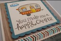 Camper Crazy! Fabulous ideas and crafty inspiration / What's not to love about this gorgeous stamp set from CTMH?  The 'Camper Crazy' stamp set is sure to inspire cute cards and adorable page layouts.  Use Alcohol Markers or Watercolour Pencils to create truly unique and inspired art works.