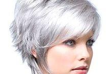 Silver...modern short hair cut / I love this style!!!!