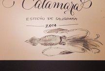 Caligrafía Calamara / Estudio de Caligrafia en Madrid  caligrafiacalamara@gmail.com