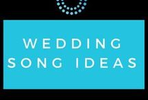 Wedding Song Ideas / Make it unique, make it fun, here's a few ideas for when it comes to music choices, for every part of your Wedding or Event!