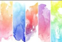 Watercolour Paints and creative ways to use them