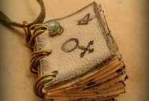 Mini Book Necklaces / Mini-book necklaces from my shop on etsy https://www.etsy.com/shop/ChestOfReverie