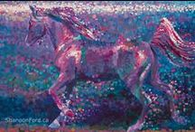 Shannon Ford Shosaic Paintings / Shosaic style paintings by Shannon Ford, artist