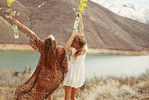 Hippie. Free. Love. Bohemian life.