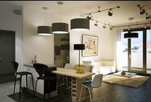 """Квартира """"Скайфорте"""" / Строгая квартира под стать дому. Это – концепция, результат получился более жизнеутверждающим . Дизайн В Стиле Индастриал"""