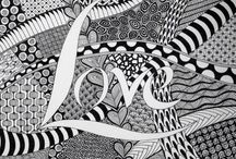 Doodles/zentangle / Drawings with zentangle and ideas to make my ovn drawings
