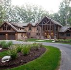 The Heron Cove Log Home by Beaver Mountain Log Homes / Get inspired to build the home you have always dreamed of. This board show pieces one of our very own breathtaking custom log homes. Enjoy!