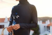 Modest Swim Wear Burkini / Browse the Muslim modest swim wear and burkini to enjoy the relaxing water or your sunny summer getaway at the beach or swimming pool.
