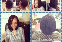 Conscious Coils Salon / Natural hair styling done by me at the CC Salon in Portland, OR