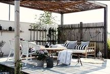 pergolas and verandas / shade and wind- rain- and cold-free seeting in garden