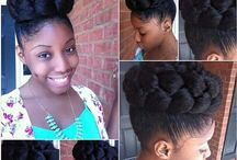 Natural & Styled / All done up natural hair
