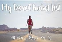 Travel Bucket List / 40 places to visit before I turn 40!  http://strictlysassy.com/travel-bucket-list