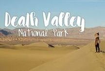 Death Valley National Park / Saving pins for our camping trip in Death Valley National Park