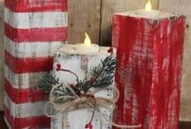 Rustic Christmas Decor / Home Decorating Ideas to get that Rustic Charm at Christmastime. DIY Christmas Decor projects and more!