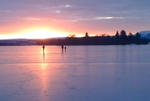 Winter at the lake / Lochend chalets by the Lake of Menteith is an endless scorce of inspriation