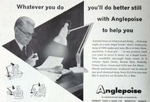 Anglepoise® Heritage / A collection of images that show old Anglepoise® lights, posters and packaging.