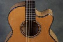 Gorgeous Guitars / Mostly luthier-crafted, handmade acoustic guitars, and most of them available at Mighty Fine Guitars in Lafayette, CA.