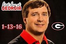 Georgia Bulldogs / Georgia Bulldog Football ~ You'll also want to check out ~ www.RollTideWarEagle.com ~ great sports stories, audio podcast and FREE on line tutorial to learn the rules of the game you love. #CollegeFootball #UGA #Georgiafootball
