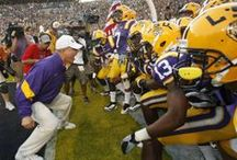 """LSU Tigers / Some of the craziest and warmest fans in the South cheer """"Geaux Tigers!"""" LSU is unique. We love it! ~ You'll also want to check out ~ www.RollTideWarEagle.com ~ great sports stories, audio podcast and FREE on line tutorial to learn the rules of the game you love. #CollegeFootball #LSU  #LSUfootball"""