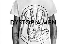 DYSTOPIA MEN / Dystopia is the dark streetwear creation of urban artist HoneyKill. Hailing from Barcelona, the street fashion label takes inspiration from religious iconography and symbology to create stunning designs with a dark appeal.