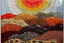 L'arco Iris mosaic, glass etc... / glass, mosaic, stones,etc... / by Lilyann
