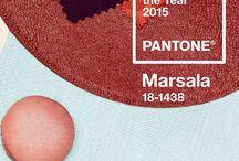 Pantone'Marsala