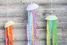 Kids Crafts - Summer / Fun crafts and projects to do with kids in summer.