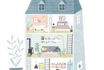 My work / Illustration, Kinderbuchillustration und Surface Pattern  Design von Tina Schulte