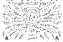 Vectors / Symbols / Templates / by Megan Marr