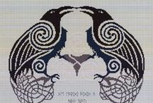 Pagan Cross Stitch Patterns / A collection of Pagan, Wicca, Witch cross stitch pattern designs