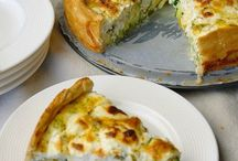 Food: quiches, pies and pizzas