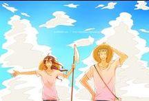Zoro and Tashigi♥ / One Piece couple ♥  Roronoa Zoro ♥ Tashigi♥
